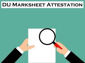 DU Marksheet Attestation