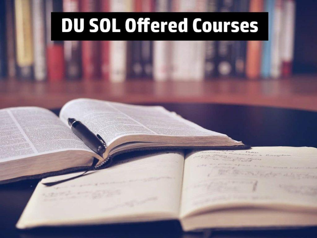 DU SOL Courses